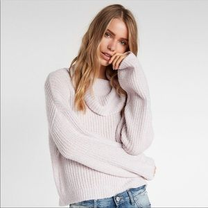 NEW EXPRESS Pastel Metallic Turtleneck Sweater